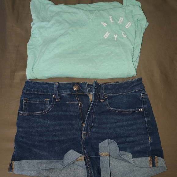 Aeropostale Other - Aeropostale jean shorts and shirt outfit